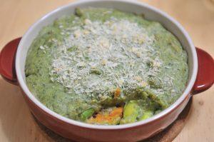 ほうれん草クリームの野菜グラタン